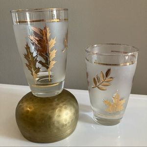 Libbey Gold Leaf Glasses